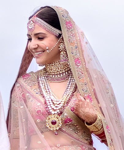 Anushka Sharma wedding Jewellery