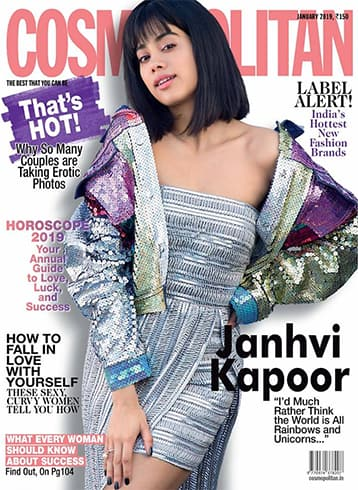 Janhvi Kapoor on Cosmopolitan January 2019