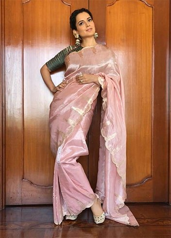 Kangana Ranaut Archana Rao label Saree