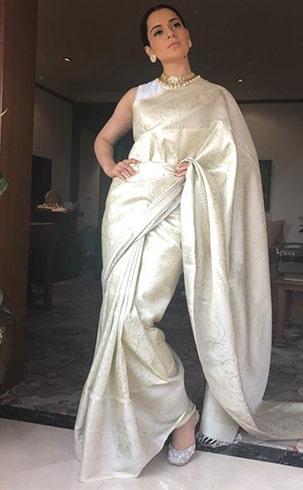 Kangana Ranaut Madhurya Sari