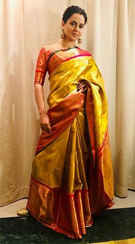 Kangana Ranaut Madhurya Creations sari