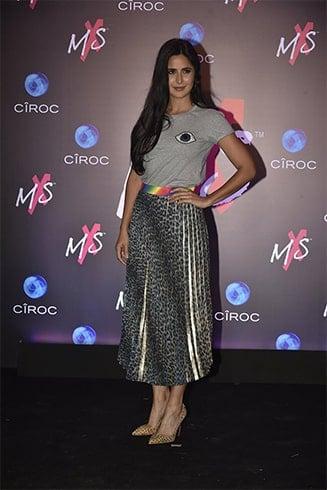 Katrina Kaif Holographic Skirt