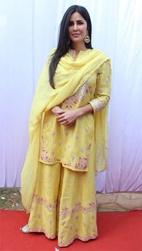 Katrina Kaif at Saraswati Pooja