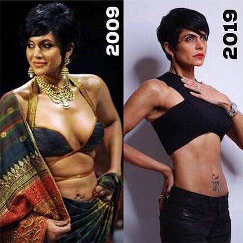 Mandira Bedi 10 Year Challenge