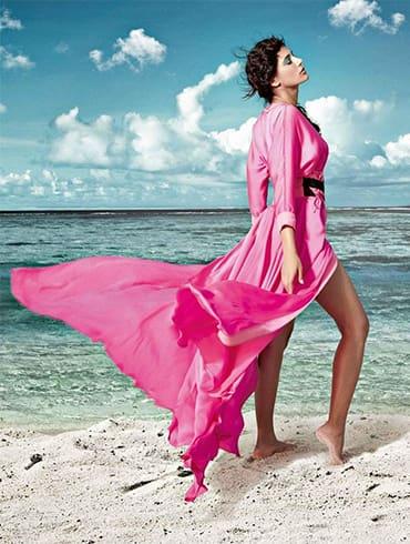 Nargis Fakhri Beach Magazine Shoot