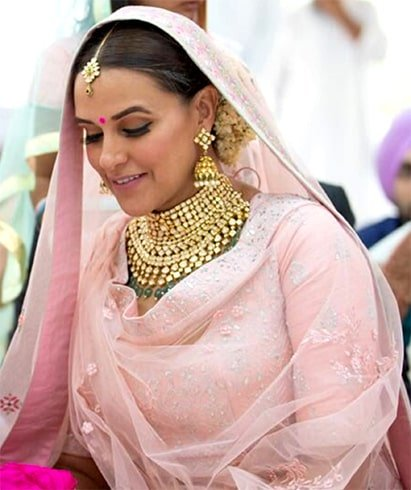 Neha Dhupia Wedding Jewellery