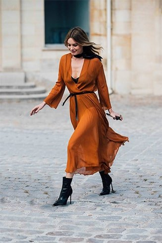 Orange and Brown Dress