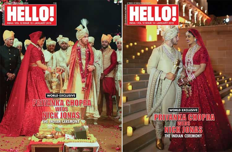 Priyanka Chopra and Nick Jonas on Hello Mag