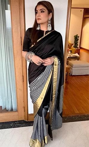 Raveena Tandon Sari Style