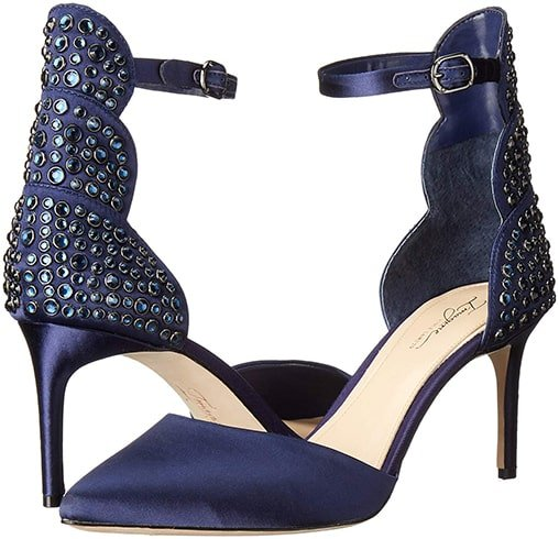 Rhinestone-covered Satin Heel from Imagine Vince Camuto Mona