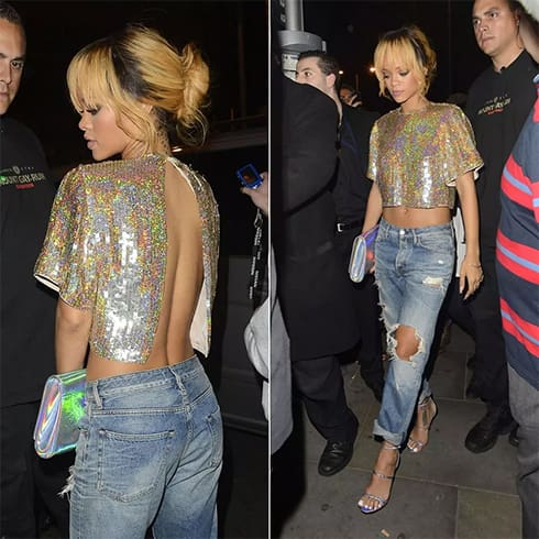 Rihanna Holographic Outfit