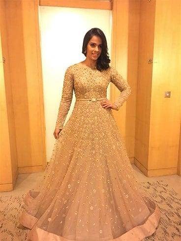 Saina Nehwal Neeta Lulla Gown