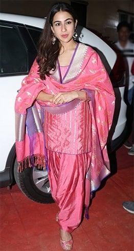 Sara Ali Khan Abu Jani Sandeep Khosla salwar suit