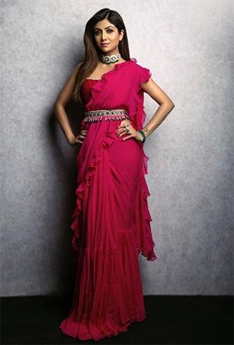 Shilpa Shetty Ridhi Mehra Sari