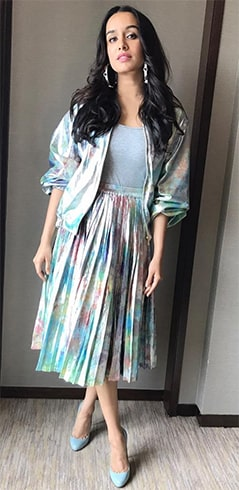 Shraddha Kapoor Holographic Fashion