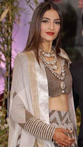 Sonam Kapoor Reception Jewellery