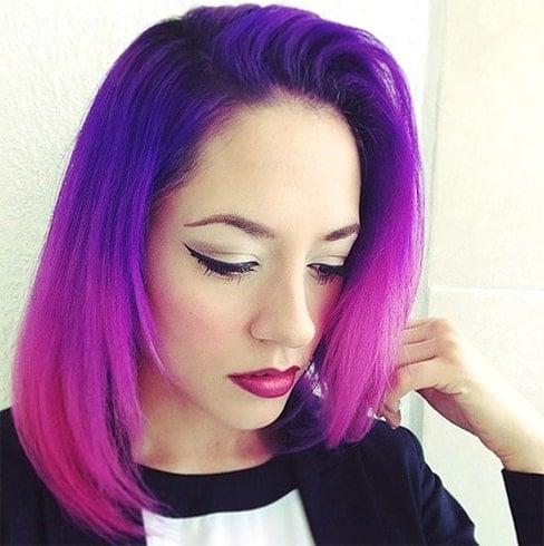 Cheveux néon lumineux