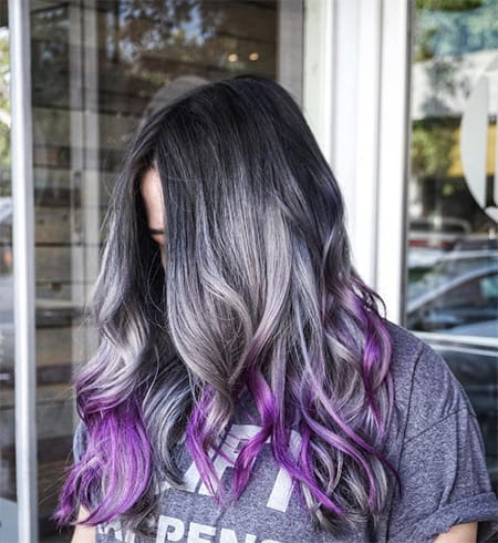 Dark Grey and Lavender Ombre