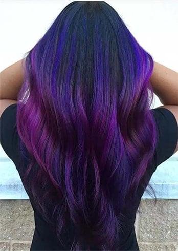 Ombre violet foncé et lilas pâle