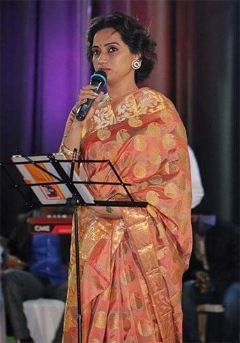 Kalpana Raghavendar in saree