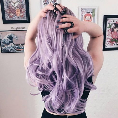 Lavender Hair Tips