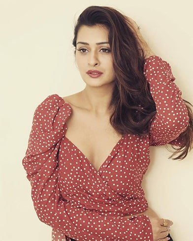Payal Rajput Red Polka Dress