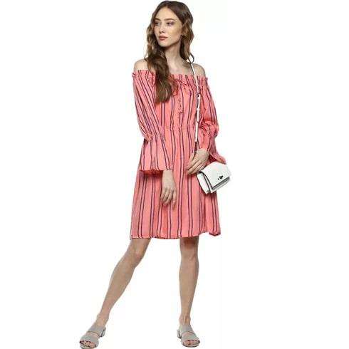 A-line Pink Dress