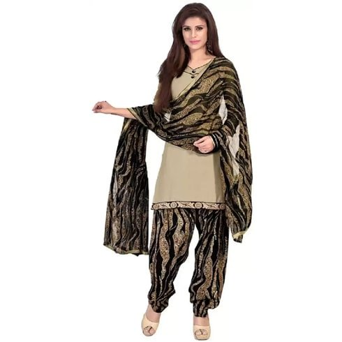 Ethnic Junction Cotton Solid Salwar Suit