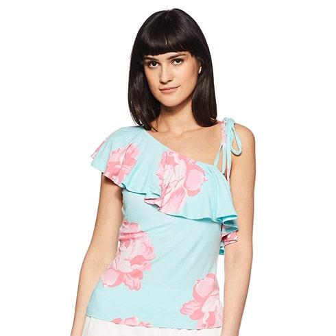 Floral Pastel One Shoulder Top