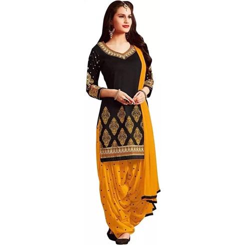 Rensilafab Crepe Printed Salwar Suit