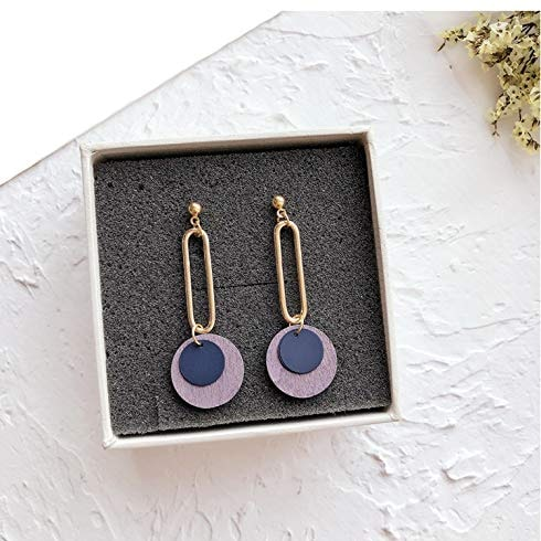 Retro Wooden Concentric Earrings