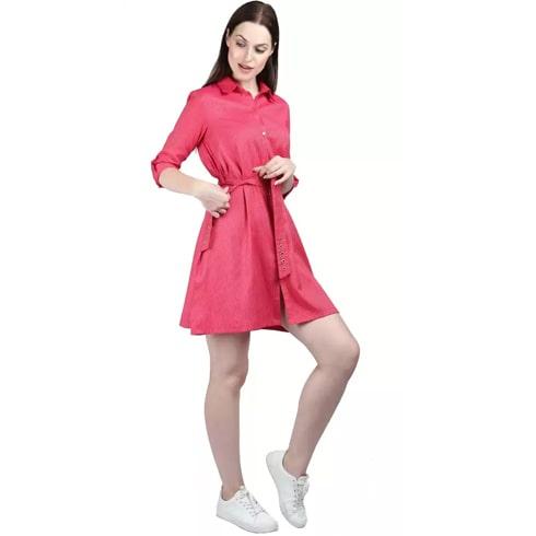 Shirt Pink Dress