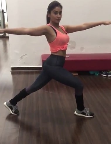 Shriya Saran Workout