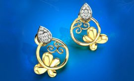 Candere Gold Earrings