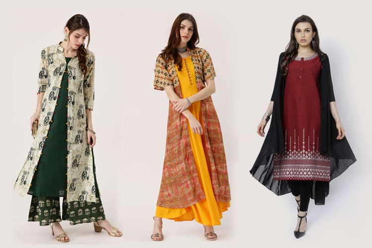 Trendy Double Layered Kurtis