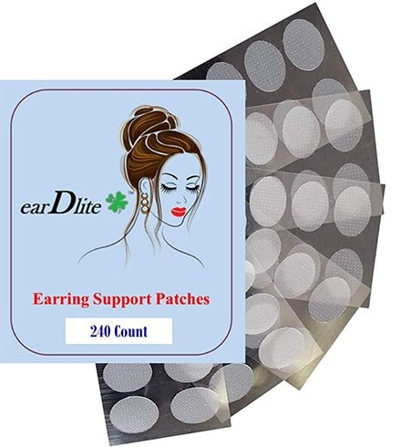 Earring Support Tape and Patches
