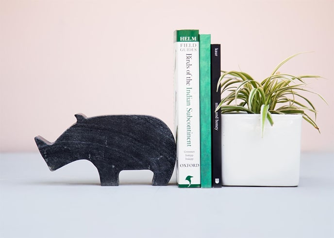 Rhino Bookend
