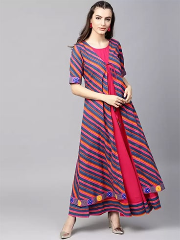 Striped Layered Kurta