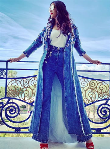 Aishwarya Rai Denim Suit at Cannes