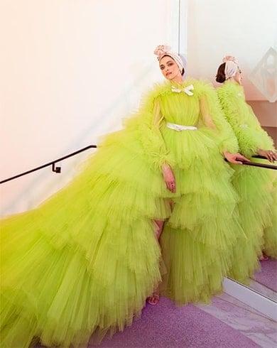 Deepika Padukone Giambattista Valli lime gown