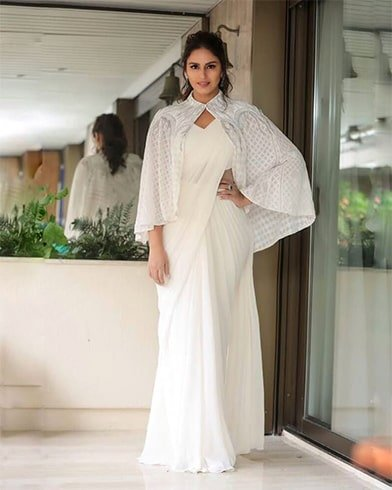 Huma Qureshi in Gaurav Gupta Saree