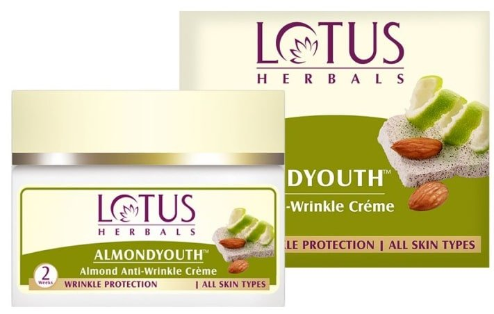 Lotus Herbals Almond Youth Anti-Wrinkle Cream