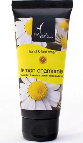 Natural Bath Body Lemon Chamomile Hand Foot Cream