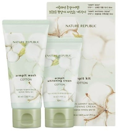Nature Republic Armpit Wash and Whitening Cream Set
