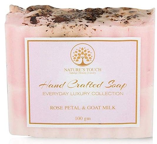 Natures Touch Rose Petal Goat Milk Soap
