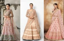 Peach Lehenga Choli Designs