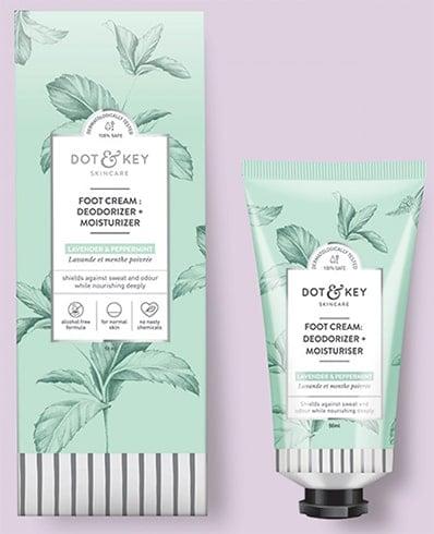 Dot and Key Foot Cream: Deodorizer Moisturizer