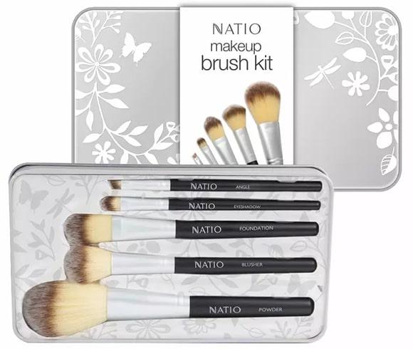 Natio 5 Piece Makeup Brushes Kit