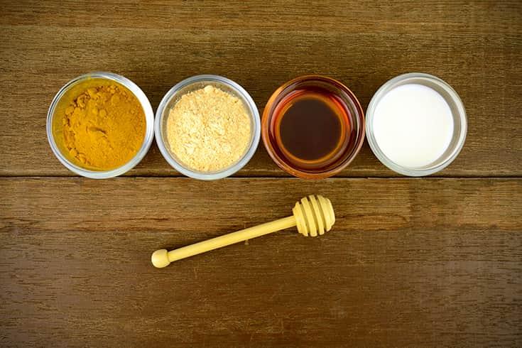 Turmeric Flour Honey Milk