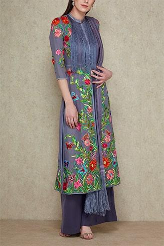 Abu Jani Sandeep Khosla Embroidery Kurta